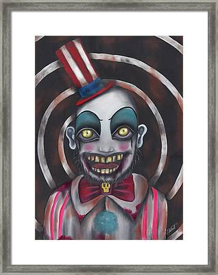 Don't You Like Clowns?  Framed Print by Abril Andrade Griffith
