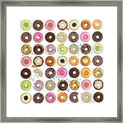 Donut Framed Print by Ann Foo