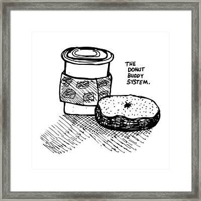 Donut Buddy System Framed Print by Karl Addison