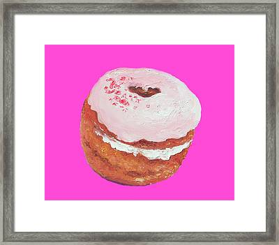Donut Painting Framed Print by Jan Matson