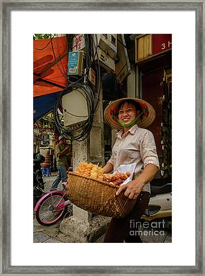 Donut Seller Framed Print