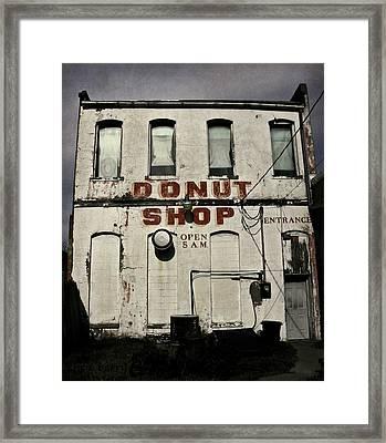 Donut Shop Framed Print by Chris Berry