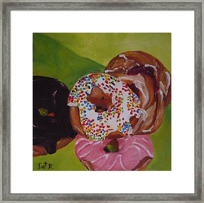 Donuts And Danish Framed Print by Irit Bourla