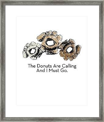 Donuts Calling- Art By Linda Woods Framed Print