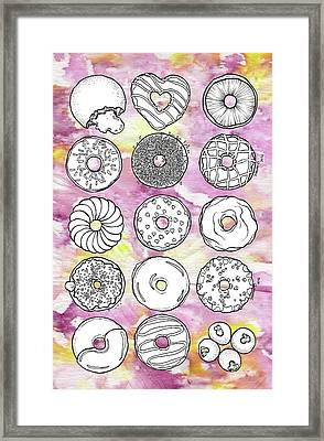 Donuts Or Doughnuts? Framed Print by Dthe Vyda Crystal