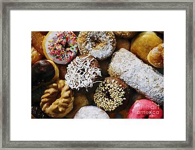 Donuts Framed Print by Vivian Krug Cotton
