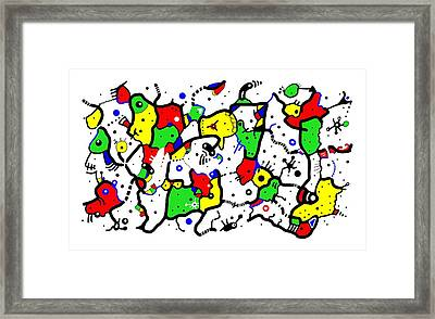 Doodle Abstract Framed Print by Marv Vandehey