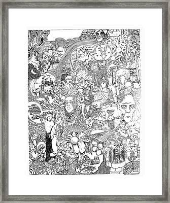 Doodle Art 1987 Framed Print