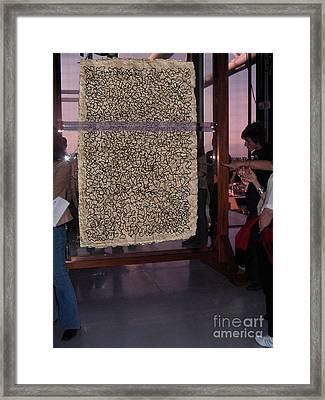 Doodle At The Pompidou Framed Print