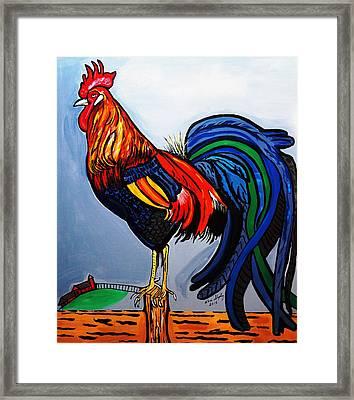 Doodle  Dum  Rooster Framed Print