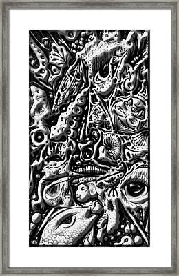Framed Print featuring the digital art Doodle Emboss by Darren Cannell