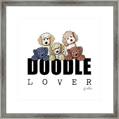 Doodle Lover Framed Print by Kim Niles