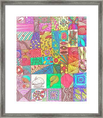 Doodle Madness Framed Print