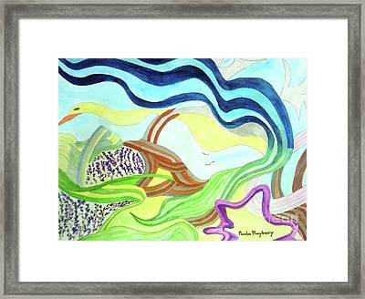 Doodlewat11 Summer Fun Framed Print