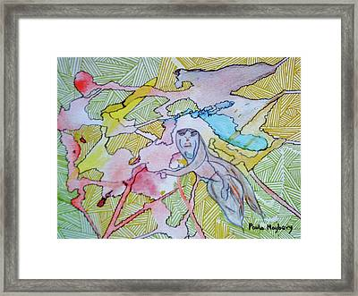 Doodlewat9 The Journey Framed Print
