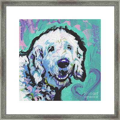 Doodly Doo I Love You Framed Print by Lea