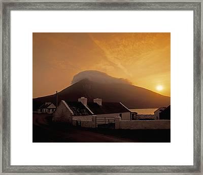 Doogort And Slievemore, Achill Island Framed Print