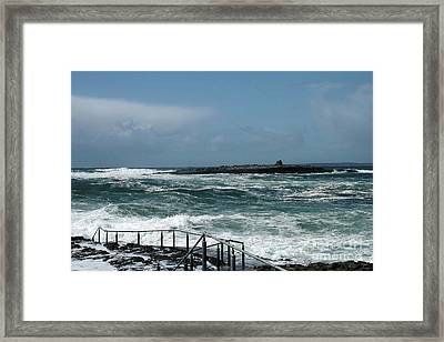 Doolin Waves Framed Print