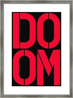 Doom Framed Print by Three Dots