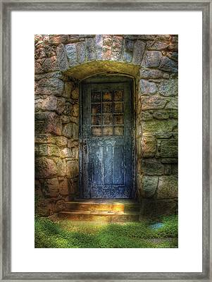 Door - A Rather Old Door Leading To Somewhere Framed Print by Mike Savad