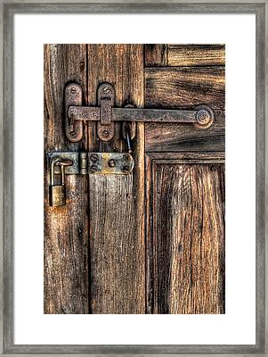 Door - The Latch Framed Print by Mike Savad