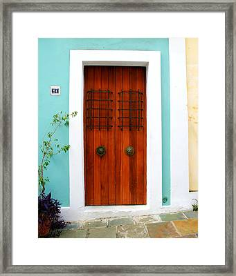 Door 51 Framed Print by Perry Webster