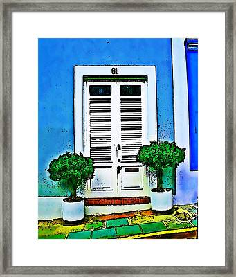 Door 61 Framed Print by Perry Webster