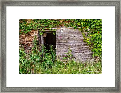 Framed Print featuring the photograph Door Ajar by Christopher Holmes