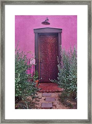Door And Mailbox - Barrio Historico - Tucson Framed Print by Nikolyn McDonald
