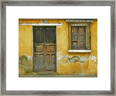 Door And Window Framed Print by Derek Selander
