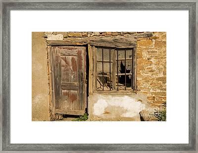 Door And Windows Framed Print