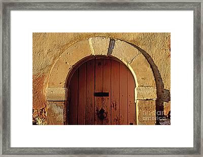 Door Framed Print by Bernard Jaubert