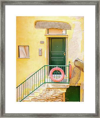 Door By The Sea Framed Print by Marla Hunt