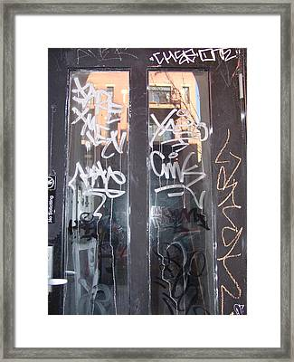 Framed Print featuring the photograph Door Chicago by Kevin Callahan