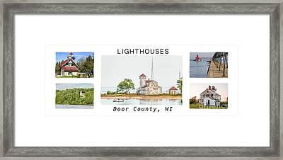 Door County Lighthouse Collection Framed Print by Nikki Vig