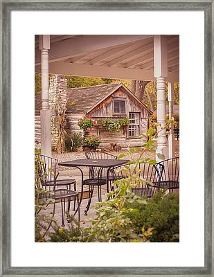 Door County Thorp Cottage Framed Print by Heidi Hermes