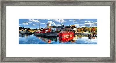 Door County Maritime Museum Panorama Framed Print