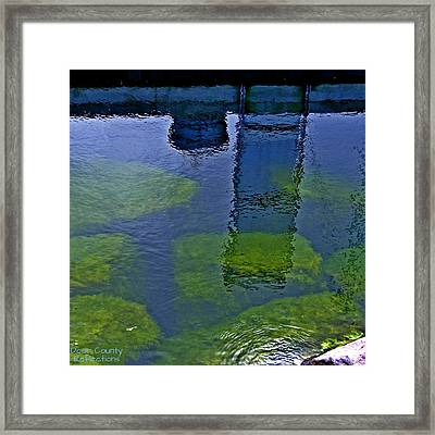 Framed Print featuring the photograph Door County Reflections by Perry Andropolis