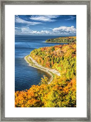 Door County Svens Bluff Scenic Overlook Framed Print by Christopher Arndt