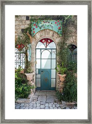 Framed Print featuring the photograph Door Entrance To The Art by Yoel Koskas