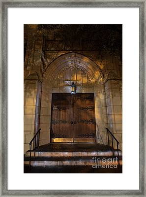 Door, First United Methodist Church, Ft. Worth Framed Print
