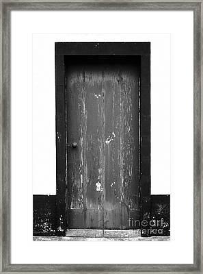 Door Framed Print by Gaspar Avila
