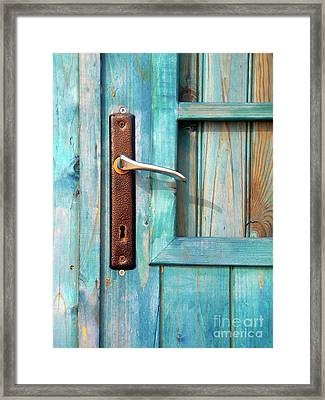 Door Handle Framed Print by Carlos Caetano