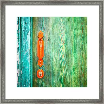 Door Handle Framed Print by Tom Gowanlock
