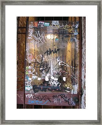 Door Honolulu Framed Print by Kevin Callahan