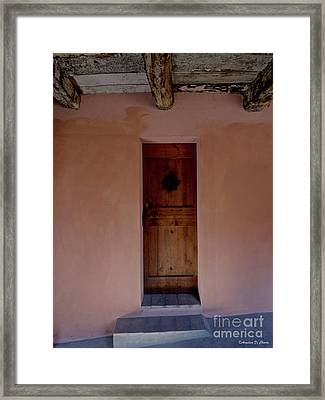 Door In Brisighella, Italy Framed Print