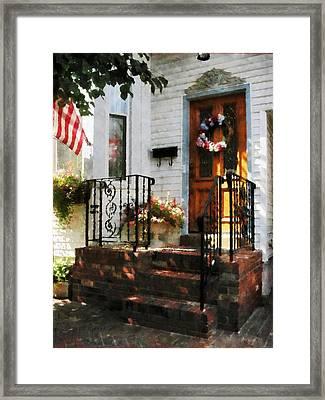 Door In Dappled Sunshine Framed Print