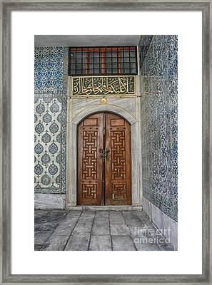 Door In Harem Istanbul Framed Print by Patricia Hofmeester
