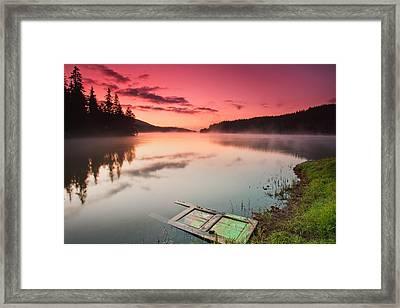 Door In The Lake Framed Print by Evgeni Dinev
