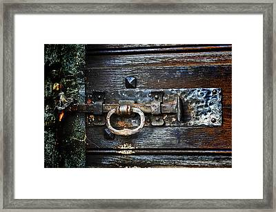 Door Latch Framed Print by Joana Kruse